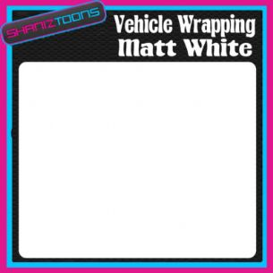 2M X 1520mm VEHICLE CAR VAN WRAP MATT WHITE FINISH